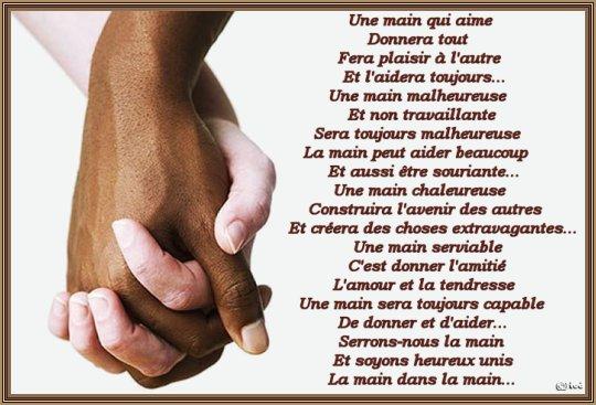 une main qui aime...
